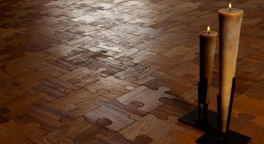 engineered wood floor puzzle su teak antico