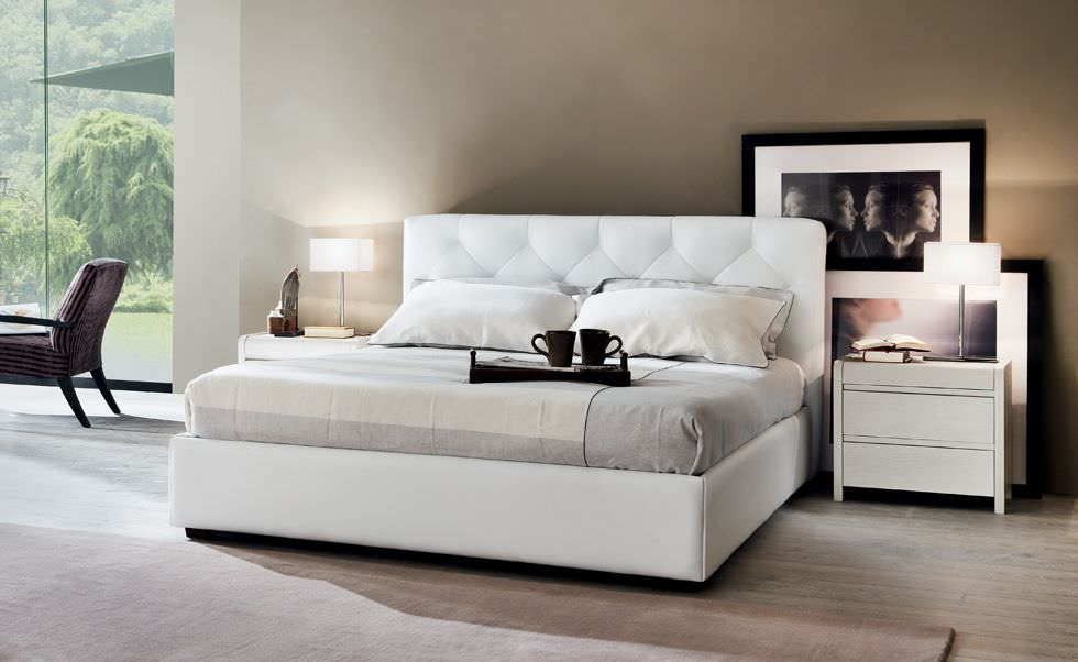 ... bed / contemporary / leather / upholstered ROSA CLAUDINE LE FABLIER