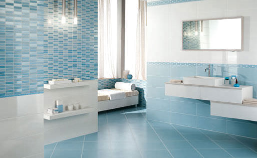 beautiful faience bleue salle de bain photos - design trends 2017 ... - Carrelage Bleu Salle De Bain