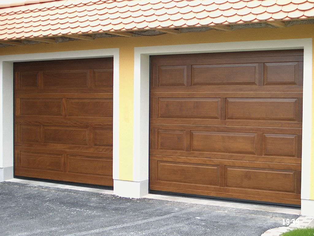 768 #6D462D  Lasting Charm And A Unique Style To The Top Sectional Shutter Door image Wooden Sectional Garage Doors 36431024